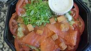 Salade Norvégienne  au Saumon Fumé - La tartiniere du zoning - Wauthier-Braine