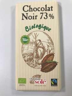 Chocolat noir BIO 73% de cacao - Befoody Company - Louvain-la-Neuve