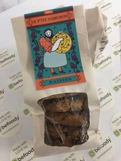 Sachet de cookies BIO aux raisins 175 g - Befoody Company - Louvain-la-Neuve
