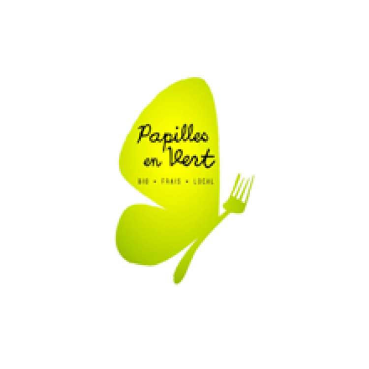 Logo Sandwicherie Papilles en Vert Louvain-la-Neuve