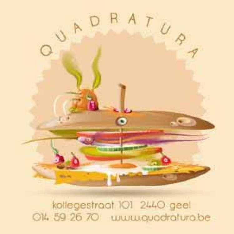 Logo Sandwicherie Quadratura Geel