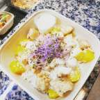 Salde de riz avec dés de poulet,coco et mangue - Traiteur Géraldine - Jambes