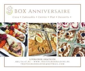 Box Fête des péres : Zakouskis - Entrée - Plat - desserts - Traiteur Géraldine - Jambes