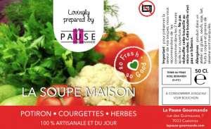 La Soupe 100% Faite Maison du jour... - La Pause Gourmande - Sandwicherie pour Entreprises - Mons