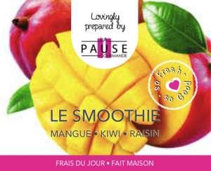 NOUVEAU ! Le SMOOTHIE fait Maison - La Pause Gourmande - Sandwicherie pour Entreprises - Mons