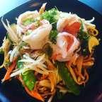 Nouilles sautées aux scampis - Ozawa Restaurant - Bruxelles